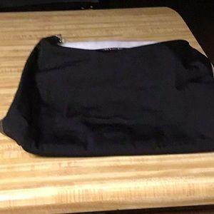 Gucci Vintage Black Jacquard Bag with Leather Trim